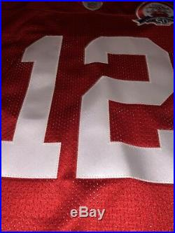 100% Authentic New England Patriots Tom Brady AFL Red Throwback Jersey Size 50