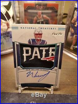 1/1 Nkeal Harry 2019 National Treasures Rookie Patch Auto Patriots
