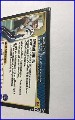 2000 BOWMAN TOM BRADY ROOKIE Football Card #236 New England Patriots Very Nice