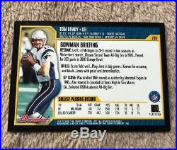 2000 Bowman #236 Tom Brady RC