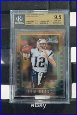 2000 Bowman Chrome #236 Tom Brady Patriots RC Rookie BGS 9.5 HOT CARD GOAT