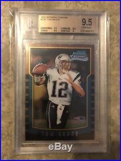 2000 Bowman Chrome #236 Tom Brady RC Rookie BGS 9.5 New England Patriots