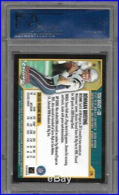 2000 Bowman Chrome #236 Tom Brady RC Rookie PSA 10 GEM MINT CENTERED