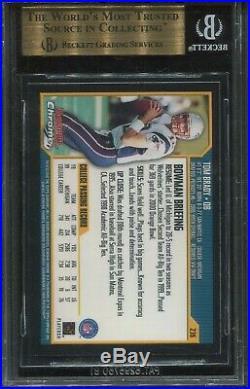 2000 Bowman Chrome #236 Tom Brady Rookie BGS 9.5 Gem Mint (Psa 10)