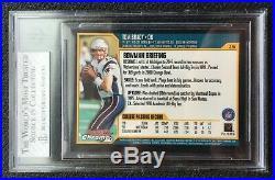 2000 Bowman Chrome #236 Tom Brady Rookie RC BGS 8 with Three 9 Subgrades + GOAT