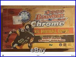 2000 Bowman Chrome Football Factory Sealed Box Tom Brady RC 1 WEEK DISCOUNT