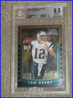 2000 Bowman Chrome Tom Brady #236 Rookie BGS 8.5