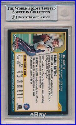 2000 Bowman Chrome Tom Brady #236 Rookie RC BGS 9 Mint Condition Patriots