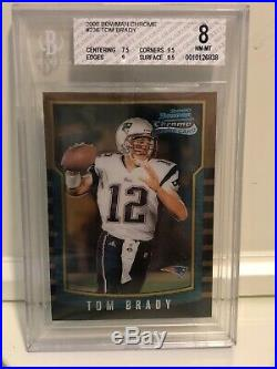 2000 Bowman Chrome Tom Brady BGS 8 with 2 9.5 And 1 9 INVEST Rookie
