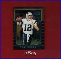 2000 Bowman Chrome Tom Brady (NEW ENGLAND PATRIOTS) Rookie Card RC #236