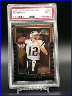 2000 Bowman Chrome Tom Brady Rookie #236 PSA 9 Mint Football Card PACK FRESH
