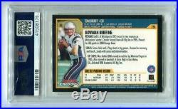 2000 Bowman Chrome Tom Brady Rookie #236 PSA 9 Mint Patriots (CBF179)