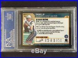 2000 Bowman Chrome Tom Brady rookie PSA 10