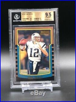 2000 Bowman Football #236 Tom Brady BGS 9.5 Gem Mint with10 RC Rookie Card SHARP