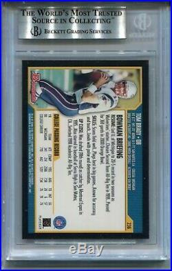 2000 Bowman Football #236 Tom Brady Rookie Card RC BGS 8.5