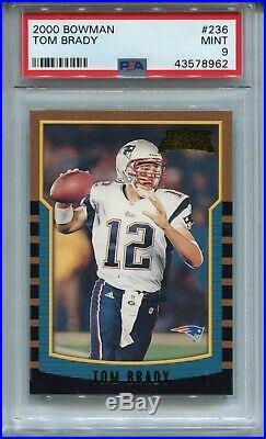 2000 Bowman Football #236 Tom Brady Rookie Card RC PSA 9