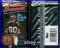 2000 Bowman Football Pack (H) Factory Sealed- Brady RC