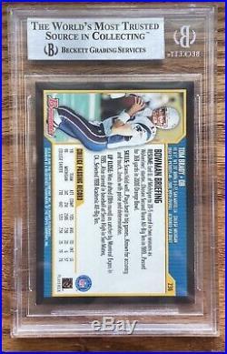 2000 Bowman Football Tom Brady RC BGS 9 Card Number 236 Patriots