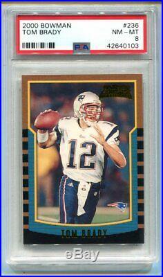 2000 Bowman Tom Brady RC #236 PSA 8 NM-MT Patriots (CBF103)