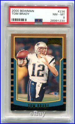 2000 Bowman Tom Brady Rookie #236 PSA 8 NM-MT (CBF)