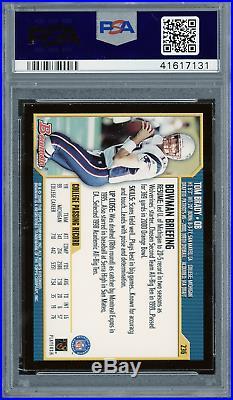 2000 Bowman Tom Brady Rookie RC PSA 8 New England Patriots