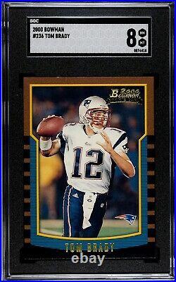 2000 Bowman Tom Brady SGC 8 NM-MT Rookie RC #236 Patriots Bucs Looks Mint