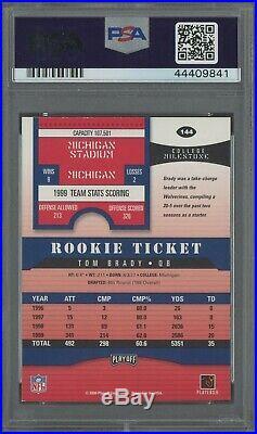 2000 Contenders Rookie Ticket #144 Tom Brady Patriots RC PSA/DNA 8 AUTO