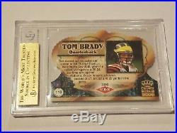 2000 Crown Royale Tom Brady #110 RC BGS 9.5 low pop Rookie GOAT! 10 subgrade