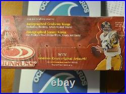 2000 Donruss Football Sealed Jumbo Hobby Box Tom Brady RC year auto #/ sp