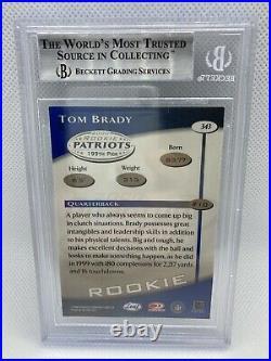 2000 Donruss Quantum Leaf TOM BRADY RC #343 ROOKIE BGS 9 Mint Patriots GOAT