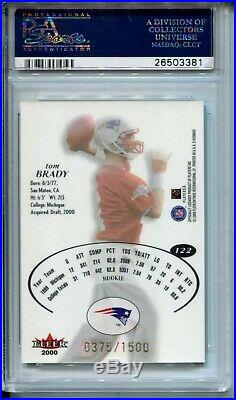 2000 EX E-X Football 122 Tom Brady Rookie Card RC Graded PSA EX MT+ 6.5 Patriots