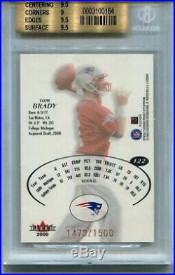 2000 E-X EX Football #122 Tom Brady Rookie Card RC BGS 9.5