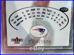 2000 E-X TOM BRADY ROOKIE 0706/1500 bgs 9.5 GEM MINT patriots GOAT $5 ship USA