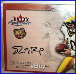 2000 Fleer Autographics Tom Brady Auto RC Rookie On Card Autograph 6xSB Champion