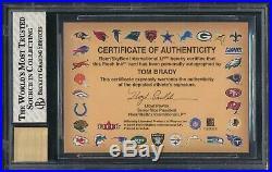 2000 Fleer Autographics Tom Brady RC Patriots Rookie BGS 8 with High Subs AUTO 10