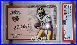 2000 Fleer Autographics Tom Brady ROOKIE AUTO PSA 7 Near Mint