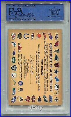 2000 Fleer Autographics Tom Brady Rookie Card RC Auto PSA 7