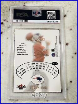 2000 Fleer E-X Tom Brady (R) (1500) Rookie RC High End MVP Graded PSA 8