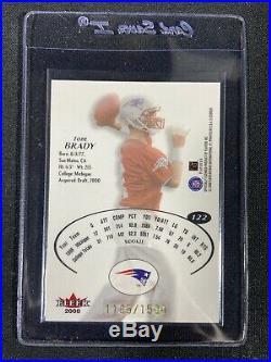 2000 Fleer E-x Tom Brady /1500 Rookie Card #122 Patriots Nm-mt
