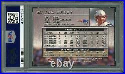2000 Fleer Metal Tom Brady RC #267 PSA 9