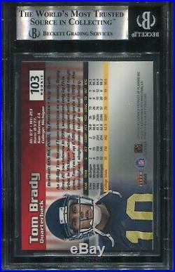 2000 Fleer Mystique #103 Tom Brady Rookie BGS 9 Mint (psa 9) 1979/2000 Made