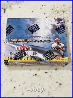 2000 Fleer Mystique Football Sealed Box 20 Packs Possible Tom Brady Hot Box