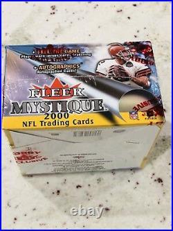 2000 Fleer Mystique Football Sealed Hobby Box 20 Packs Possible Tom Brady