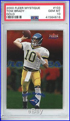 2000 Fleer Mystique Gold Tom Brady Rookie PSA 10 Gem MINT. New England Patriots