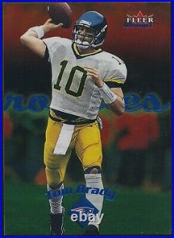 2000 Fleer Mystique Tom Brady Gold /500 Rookie Card #103 Patriots Nm-mt