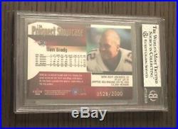 2000 Fleer ShowcaseTOM BRADY #136 RCRare True Rookie Card /2000BGS 8 with 9.5