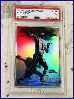 2000 Fleer Showcase Tom Brady ROOKIE RC #136 PSA 7 NM Very Rare Card SSP