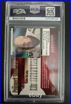 2000 Fleer Showcase Tom Brady Rookie RC /2000 #136 PSA 7 NM