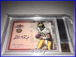 2000 Fleer Tradition Autographics #17 Tom Brady Rookie BGS 8.5 Auto graded 10