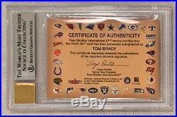 2000 Fleer Tradition Autographics Tom Brady Rookie Rc Bgs 8.5 & 10 Auto
